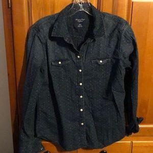 AEO chambray type shirt